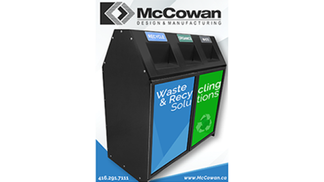 McCowan Design & Manufacturing introduces the MU-803 Multistream Waste Recycle Station.