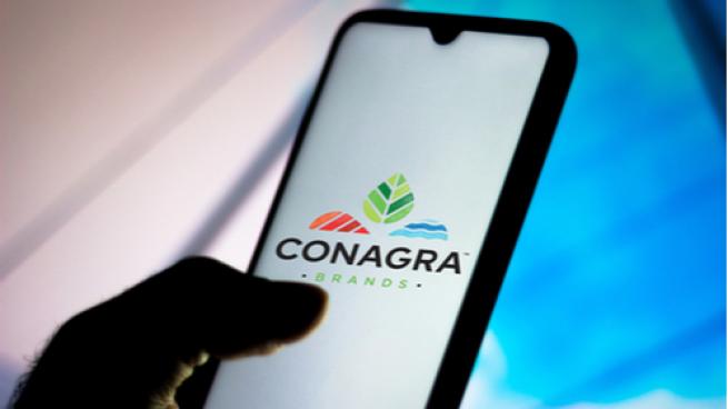 Conagra logo on a cellphone