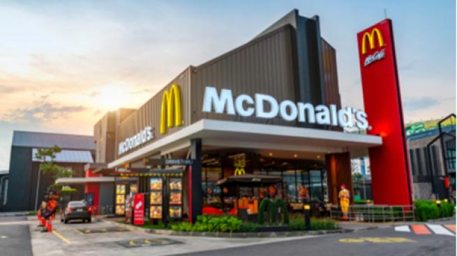 exterior of McDonald's restaurant with drive-thru