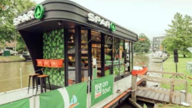 Spar store at train station