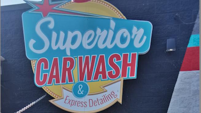 superior car wash logo
