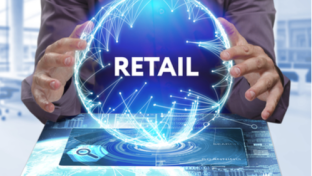 Retail in a globe, futuristic crystal ball trends