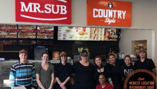 Mr. Sub and Country Style location with staff