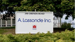 Sign in front of Lassonde's Brampton Ontario offices