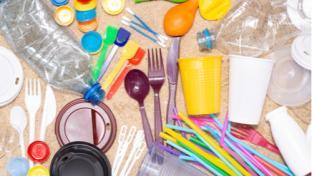 lots of single use plastic garbage